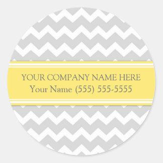 Business Custom Company Name Stickers Grey Chevron