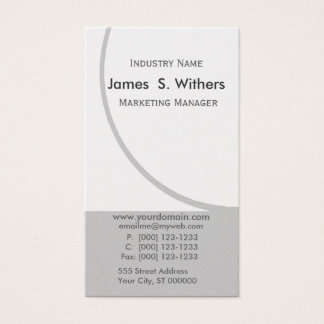 Business Design Upscale Circular Motion Name Business Card