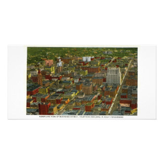 Business District in 1930s Denver Colorado Photo Greeting Card