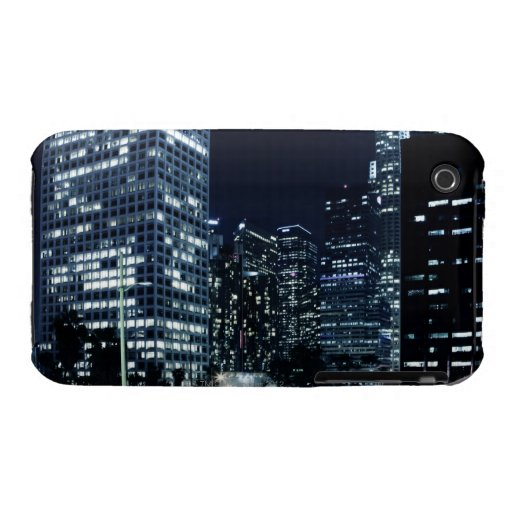 business district with big city lights during iPhone 3 case