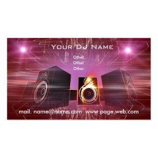business_DJ Pack Of Standard Business Cards