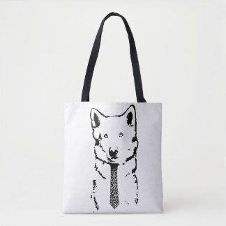 Business Dog Means Business Tote Bag