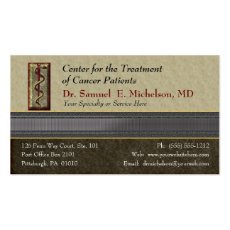 Business Elegance Physician Business Card