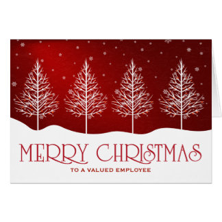 Business Employee Appreciation Christmas Greetings Card