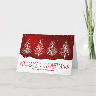 Greetings business christmas cards zazzle business employee appreciation christmas greetings holiday card m4hsunfo