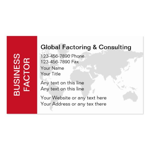 Business Factoring Business Cards