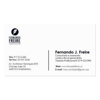 Business Fernando freire Pack Of Standard Business Cards