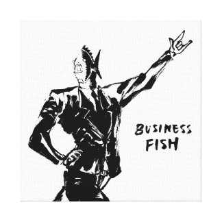 Business Fish Ink painting (Version ZEN) Canvas Print