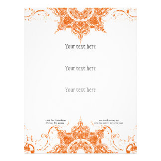 Business Flyer - Toile Damask Swirl Floral Baroque