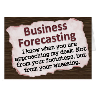Business Forecasting Note Card