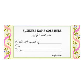 Business Gift Certificate | Rack Card