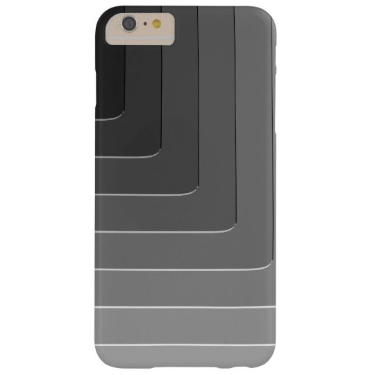 Business grey monochrome barely there iPhone 6 plus case
