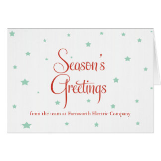 Business Holiday Cards - Starry Christmas