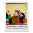 "Business Humour ""Mum Reference"" Poster"