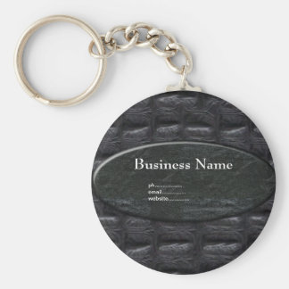 Business Keychain Leather Stone Add Your Name