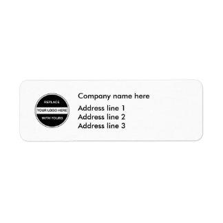 Business Logo Address Template Labels