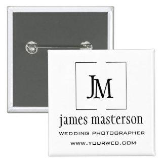 Business Logo Modern GeometricOpen Frame  Monogram 15 Cm Square Badge
