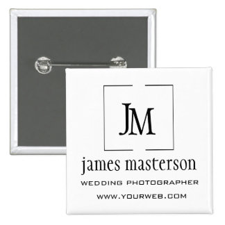 Business Logo  Modern Open-Frame  Monogram 15 Cm Square Badge