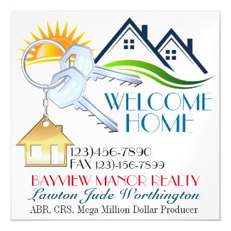 Business Magnet - Real Estate, You Name It Magnetic Invitations