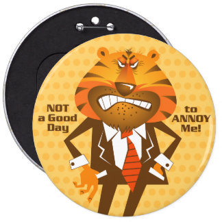 Business Man Round Button