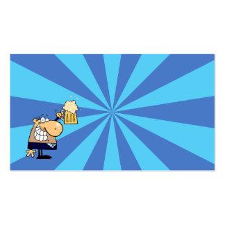 Business Man Toast Business Card Template