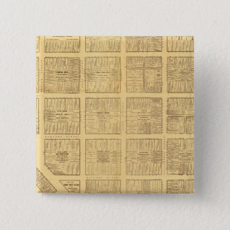 Business Map of San Francisco 15 Cm Square Badge