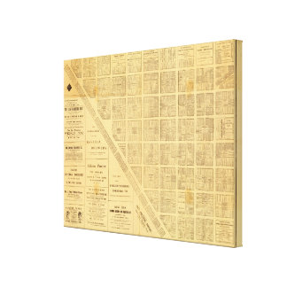Business Map of San Francisco Canvas Print