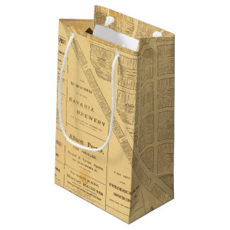 Business Map of San Francisco Small Gift Bag