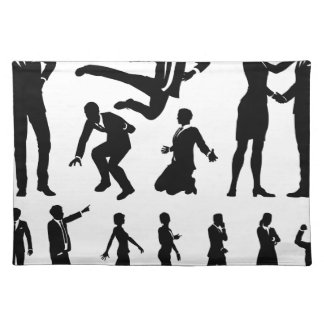 Business Men and Women Silhouettes Placemat