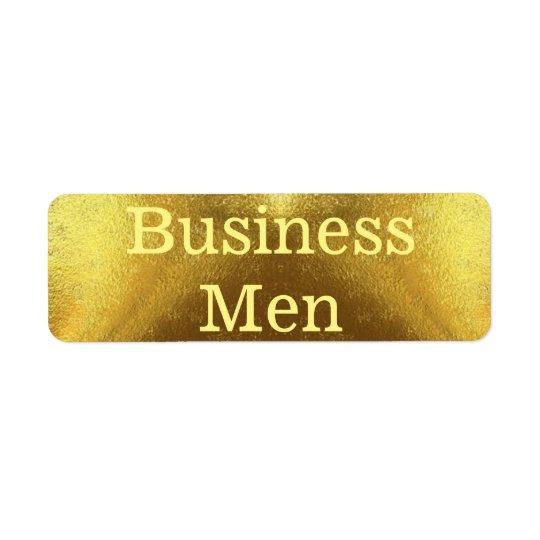 Business Men Return Address Label