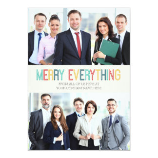 Business Merry Everything Photo Card Colorful 13 Cm X 18 Cm Invitation Card