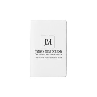 Business Monogram Professional Minimal Pocket Moleskine Notebook