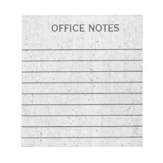 Business Office Notes Note Pad