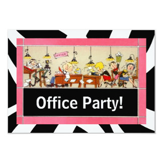 Business Office Party Hard Working Team Invitation