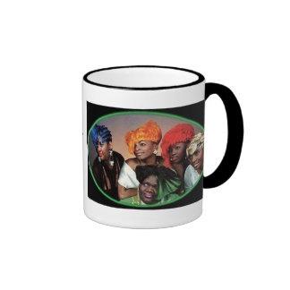 "Business on da left, ""BUSINESS on the LEFT, PAR... Ringer Mug"
