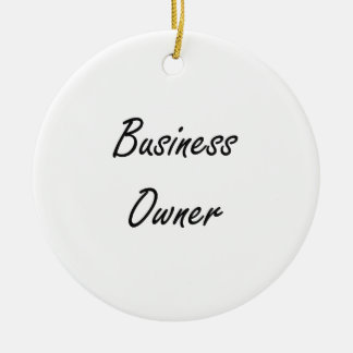 Business Owner Artistic Job Design Double-Sided Ceramic Round Christmas Ornament