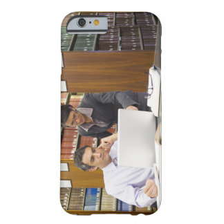 Business people doing research in library barely there iPhone 6 case