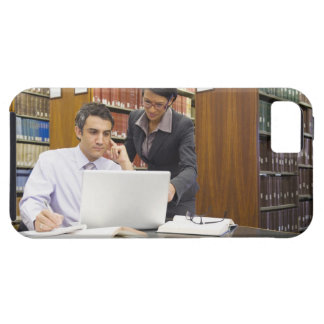Business people doing research in library iPhone 5 cover