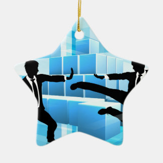 Business People Fighting Competition Concept Ceramic Star Decoration