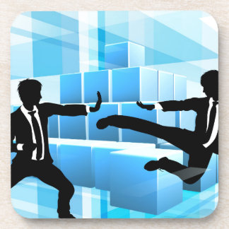 Business People Fighting Competition Concept Coasters