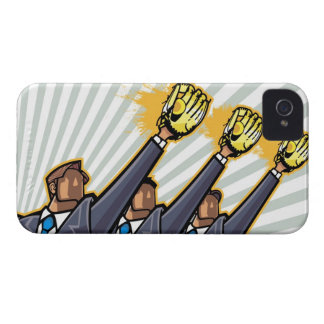 Business people wearing baseball glove iPhone 4 cases
