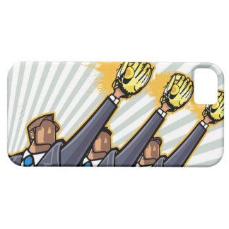 Business people wearing baseball glove iPhone 5 cover