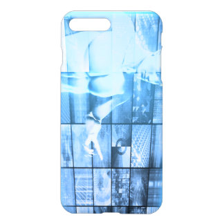 Business Person Working with Modern Virtual Techno iPhone 7 Plus Case