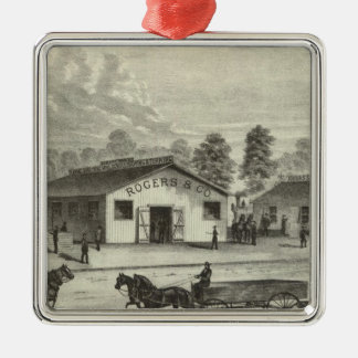 Business places of Rogers & Co and Sullivan & Co Silver-Colored Square Decoration