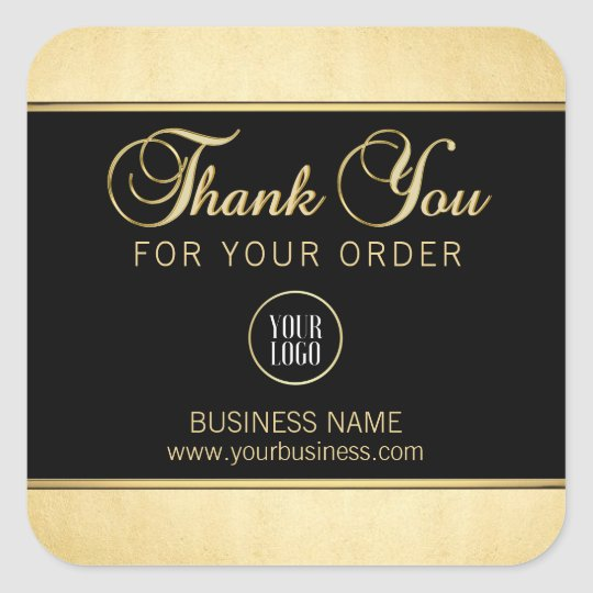 Business Professional Thank You Gold Black w/ LOGO