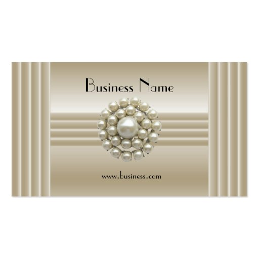 Business Profile Card Elegant Pearl Gem Deco Business Cards