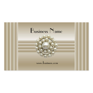 Business Profile Card Elegant Pearl Gem Deco Pack Of Standard Business Cards