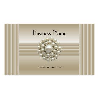 Business Profile Card Elegant Pearl Gem Deco Pack Of Standard Business Cards