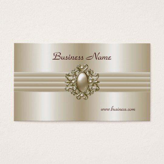 Business Profile Card Elegant Pearl Image