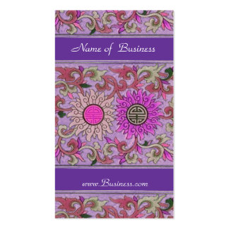 Business Profile Card Vintage Pink Purple Floral Business Card